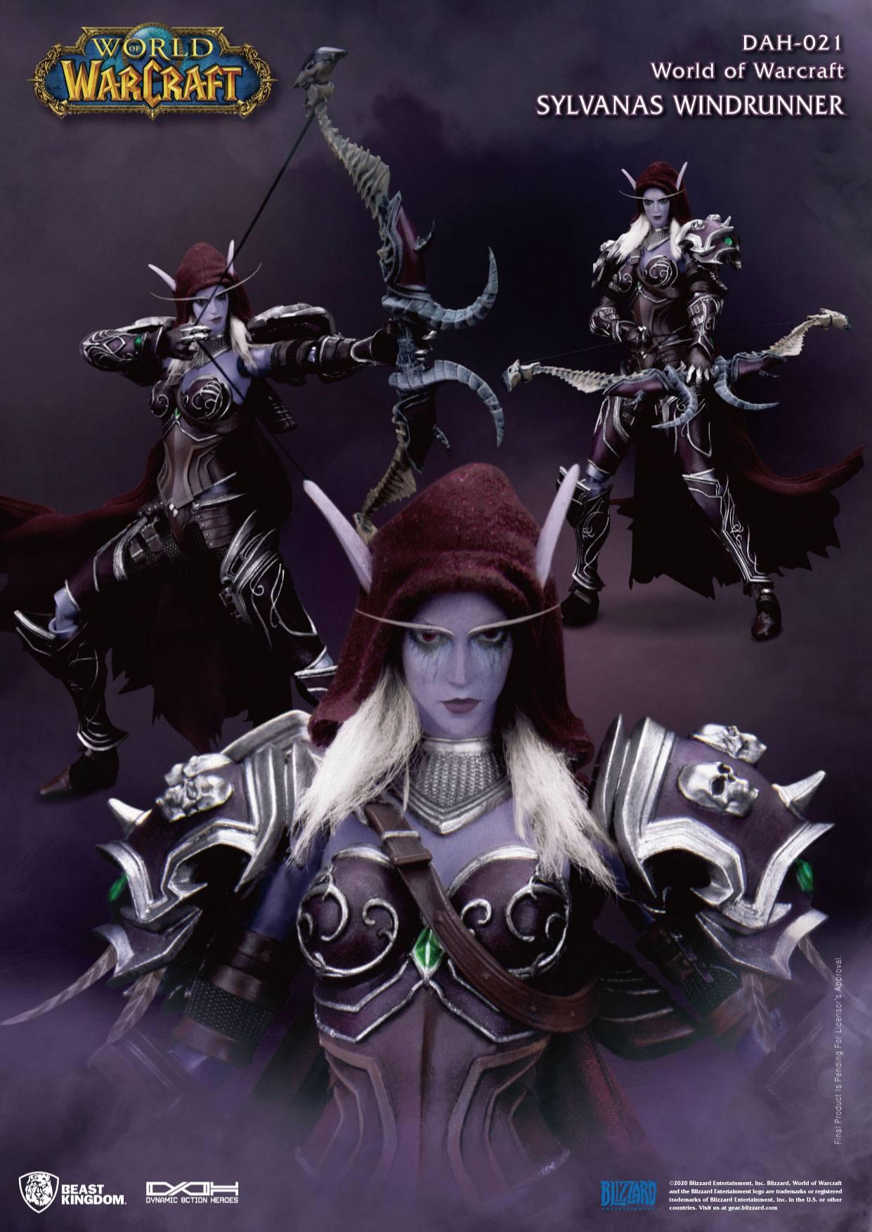 World of warcraft battle for azeroth figurine dynamic action heroes 19 sylvanas windrunner 21 cm 4