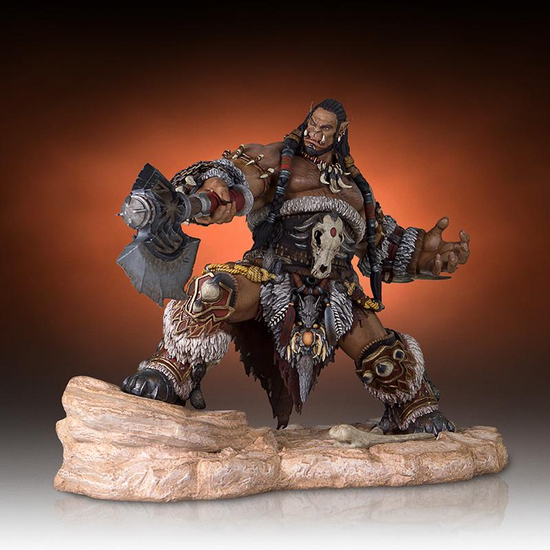 World of warcraft durotan statue resine 30cm gentle giant suukoo toys figurine