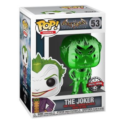 DC POP! Marvel Vinyl figurine The Joker (Green Chrome) 9 cm Spécial Edition