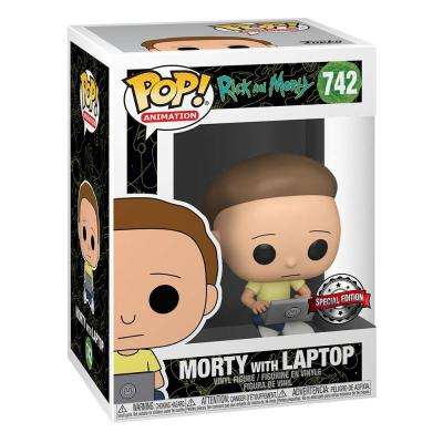 Rick & Morty POP! Animation Vinyl figurine Morty w/Laptop 9 cm Spécial Edition