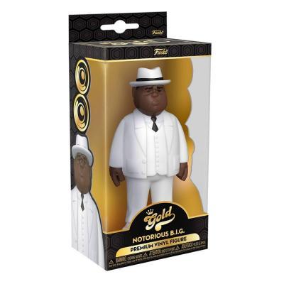 FUNKO Notorious B.I.G. Vinyl Gold Figurine Biggie Smalls White Suit 13 cm
