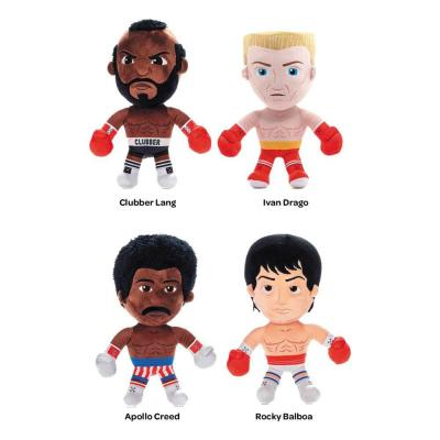 Rocky assortiment peluches Drago, Creed, Lang, Balboa 30 cm
