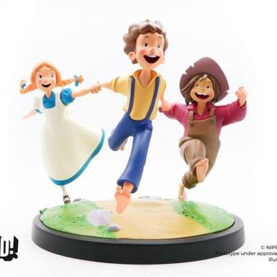 Tom Sawyer statuette Animated! Tom, Huck & Becky 23 cm