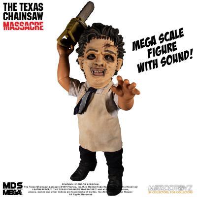 Massacre à la tronçonneuse Mega Scale Leatherface figurine sonore 38 cm