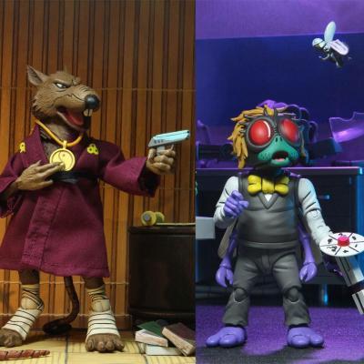 Les Tortues ninja pack 2 figurines Splinter & Baxter 18 cm