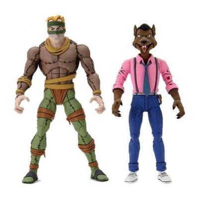 Les Tortues ninja pack 2 figurines Rat King & Vernon 18 cm