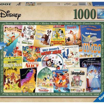 Disney puzzle Affiches de films vintage (1000 pièces)