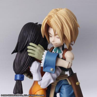 Final Fantasy IX figurines Bring Arts Zidane Tribal & Garnet Til Alexandros XVII 12 - 17 cm