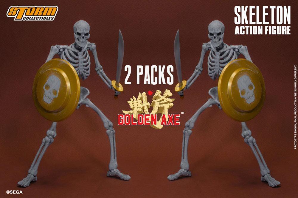 Golden Axe pack 2 figurines 1/12 Skeleton 18 cm