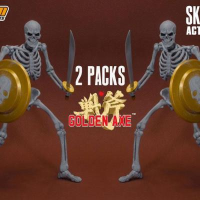 Golden Axe pack 2 figurines 1/12 Skeleton 18 cm