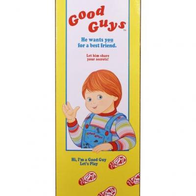 Chucky, la poupée de sang réplique 1/1 boîte Good Guys